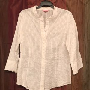 Lilly Pulitzer White Button Down Top